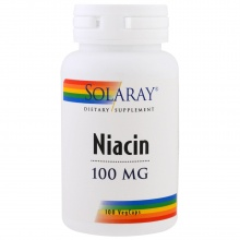 Витамины Solaray Niacin 100 mg 100 caps
